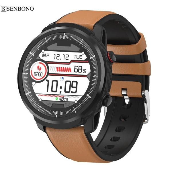 SENBONO S10 plus Full touch Smart Watch Men Women Sports Clock Heart Rate Monitor Smartwatch for IOS Android phone