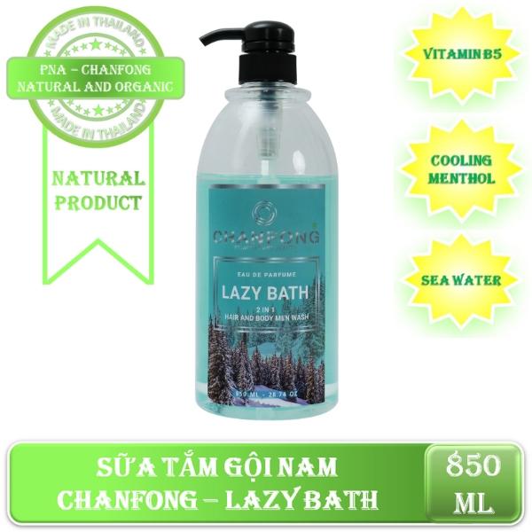 Sữa tắm gội Nam hương nước hoa CHANFONG - Lazy Bath 850ml cao cấp