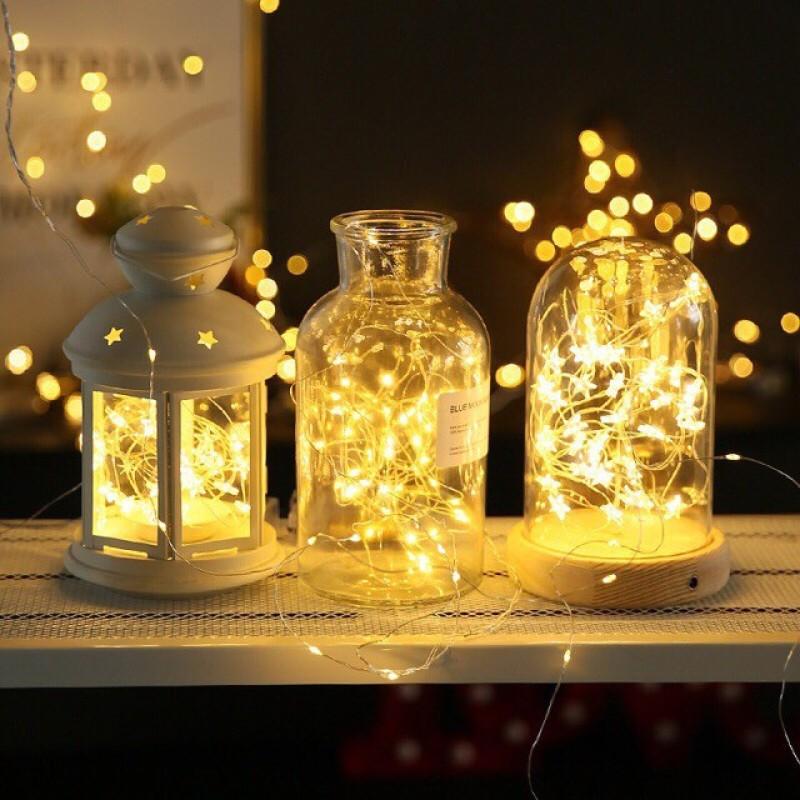 Bảng giá Dây Đèn Led Đom Đóm trang trí tết giáng sinh phòng ngủ Chipsbling Fairy Lights đồng dài 10m- 100 bóng LED - Nguồn USB