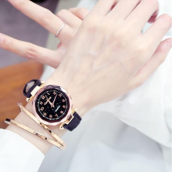 Đồng hồ thời trang Nữ viser Đính Đá Dây da M04