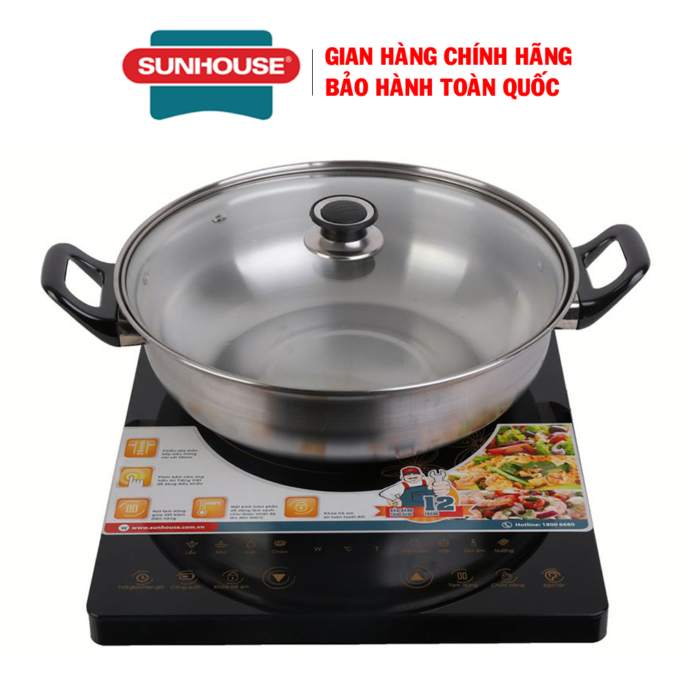 Bếp từ cảm ứng Sunhouse SHD6800 - Bếp từ đơn ăn lẩu + Tặng kèm nồi