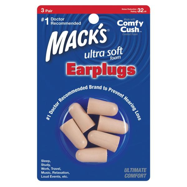 Hộp 3 đôi nút bịt tai chống ồn Ultra Soft Foam - Nhập khẩu từ Mỹ
