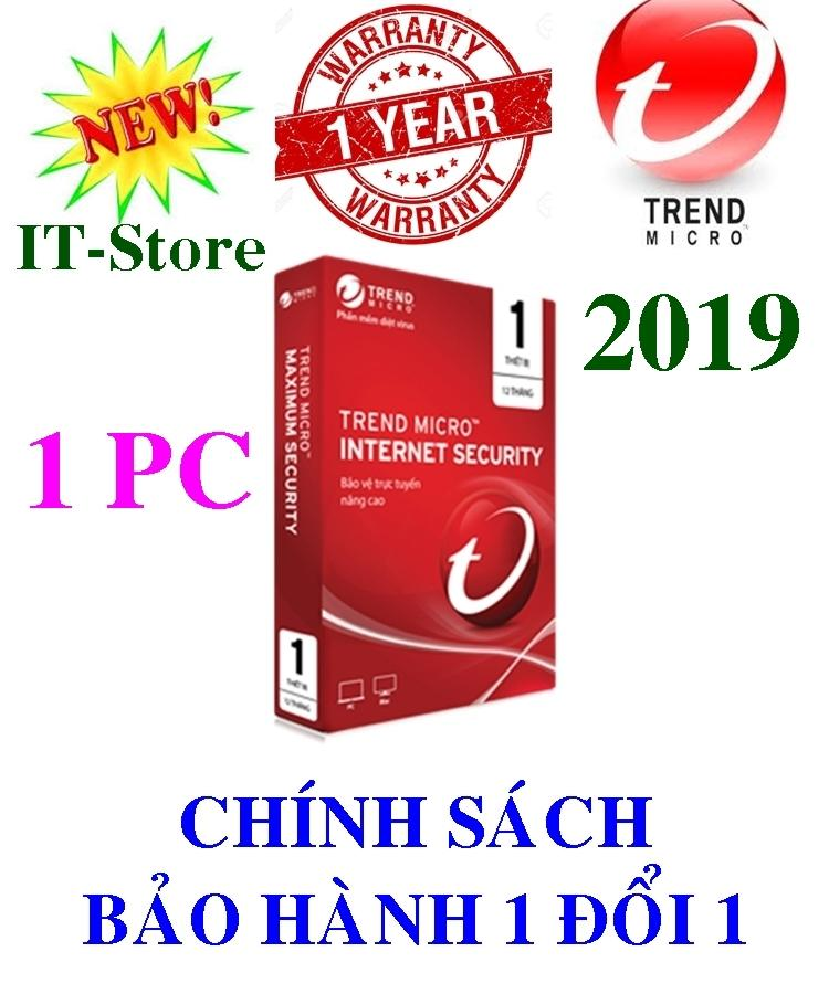 Phần mềm diệt virus Trend Micro Internet Security 2019 - 1PC/Năm