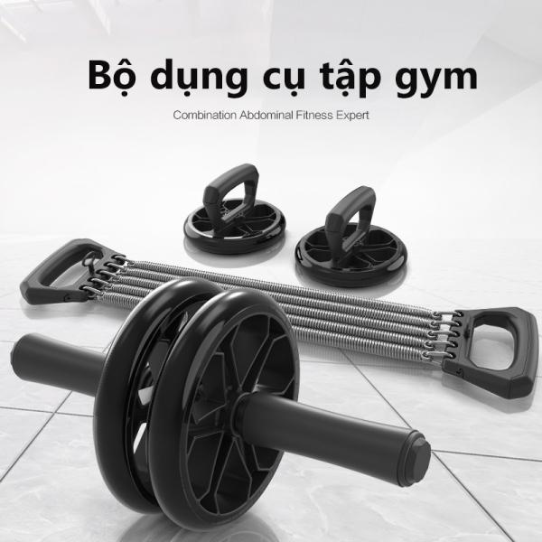 Tập thể hình Khung tập thể hình Dụng cụ tập Gym bộ 3 thiết bị bánh lăn, dây lò xo kéo, đế tập chống đẩy luyện tập mọi lúc bộ dụng cụ tập gym 3 trong 1 tiện lợi  camry