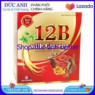 [HSD 2024] Viên uống 12B With Ginseng phục hổi sức khở nâng cao trí lực bồi bổ cơ thể bổ xung các Vitamin - Hộp 100 viên thumbnail