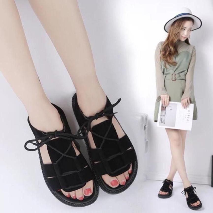 Dép sandal cột dây quai hậu kiểu dáng Hàn - Minh Châu shop giá rẻ