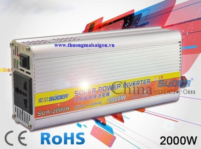 Bảng giá Bộ Kích Điện Inverter Suoer 12V Lên 220V SUA-2000A 2000W Phong Vũ