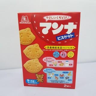 Bánh Ăn Dặm Hình Mặt Cười Morinaga Nhật Bản 7M (Date T2 2021) thumbnail