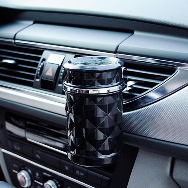 Gạt tàn, thùng rác mini có đèn led dành cho xe hơi ô tô