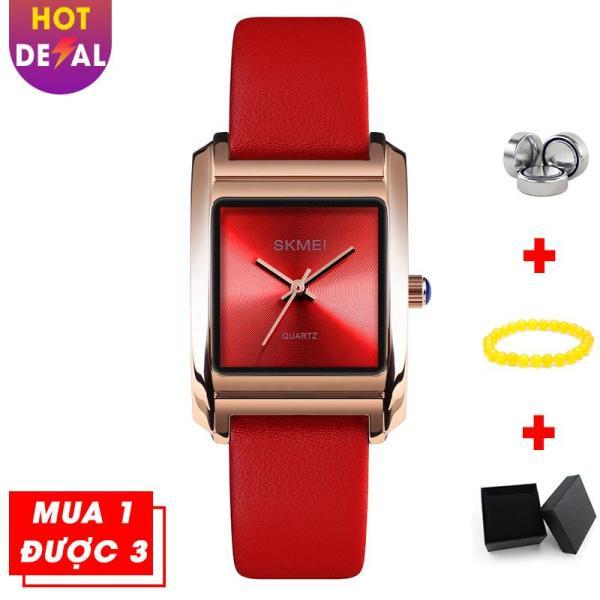 Nơi bán Đồng Hồ Nữ Mặt Vuông Sành Điệu Chống Nước Cao Cấp SKMEI BW058-Boss Watches