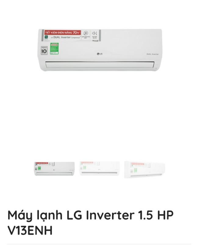 Bảng giá máy lạnh LG INVERTER 1.5HP V13 ENH