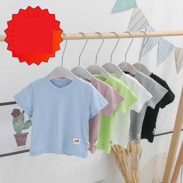 Giá bán | SIZE ĐẠI | áo thun trơn cotton mịn mát bé trai, gái | mịn mát co dãn | size 4-27kg |