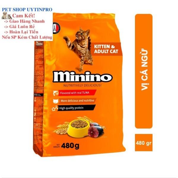 THỨC ĂN CHO MÈO Minino dạng hạt Gói 480g thương hiệu pháp