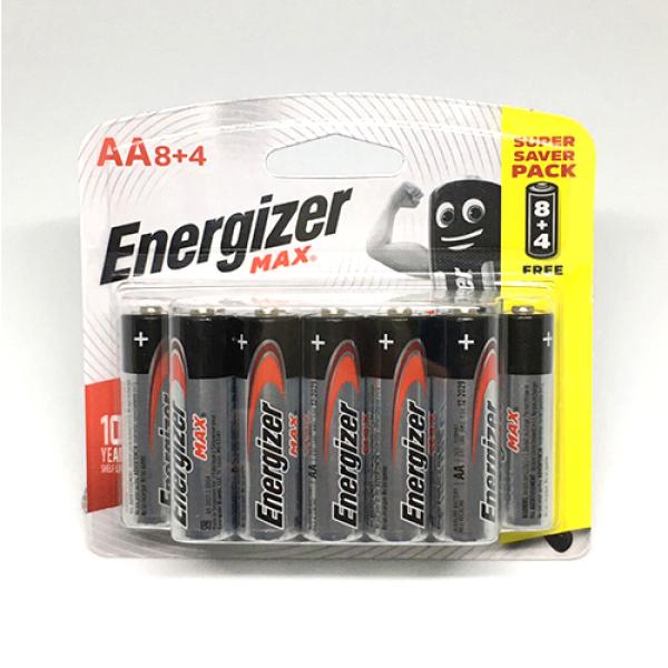 Bảng giá Vỉ 12 viên pin AA , AAA Energizer 1,5V Siêu Bền - Hàng Chính Hãng
