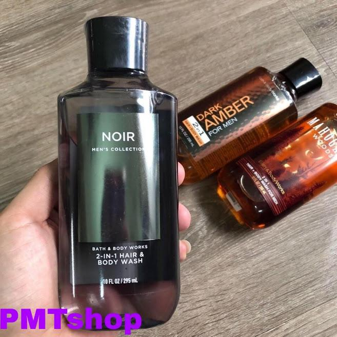[USA] Gel tắm gội cao cấp 2in1 Bath & Body Works Noir mens Collection Pour Homme 295ml - Nhập khẩu Mỹ