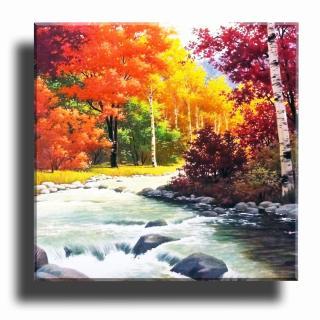 Tranh treo tường - Thác Đá Vàng- Tranh Minh Hiền ( KT 40 x 40cm) thumbnail