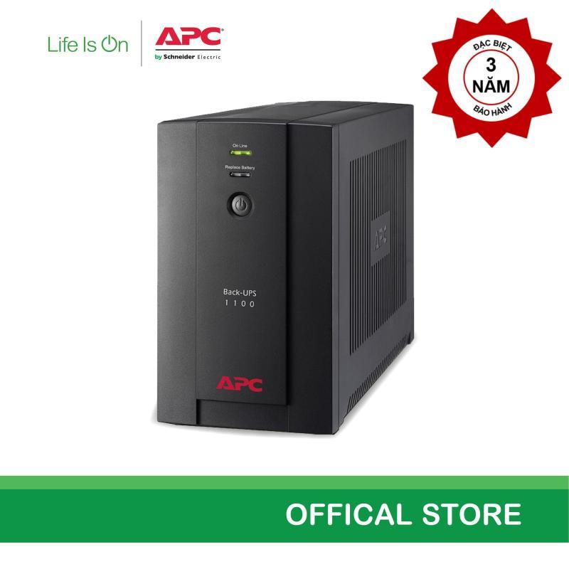 Bảng giá [Khuyến mãi - Miễn phí bảo hành năm thứ 3]Bộ lưu điện APC: Back-UPS 1100VA, 230V, AVR, Universal and IEC Sockets - BX1100LI-MS Phong Vũ