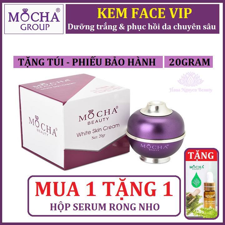 Kem dưỡng da - KEM FACE VIP MOCHA - MUA 1 TẶNG 1 SERUM RONG NHO chính hãng