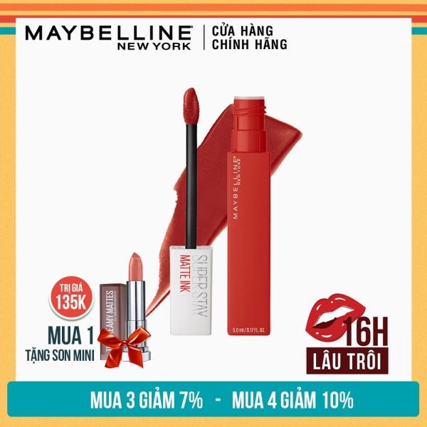 Son Kem Lì 16h Lâu Trôi Maybelline New York Super Stay Matte Ink Lipstick 5ml tốt nhất