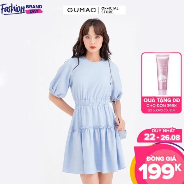 Nơi bán Đầm nữ eo chun nhún tùng GUMAC DB633