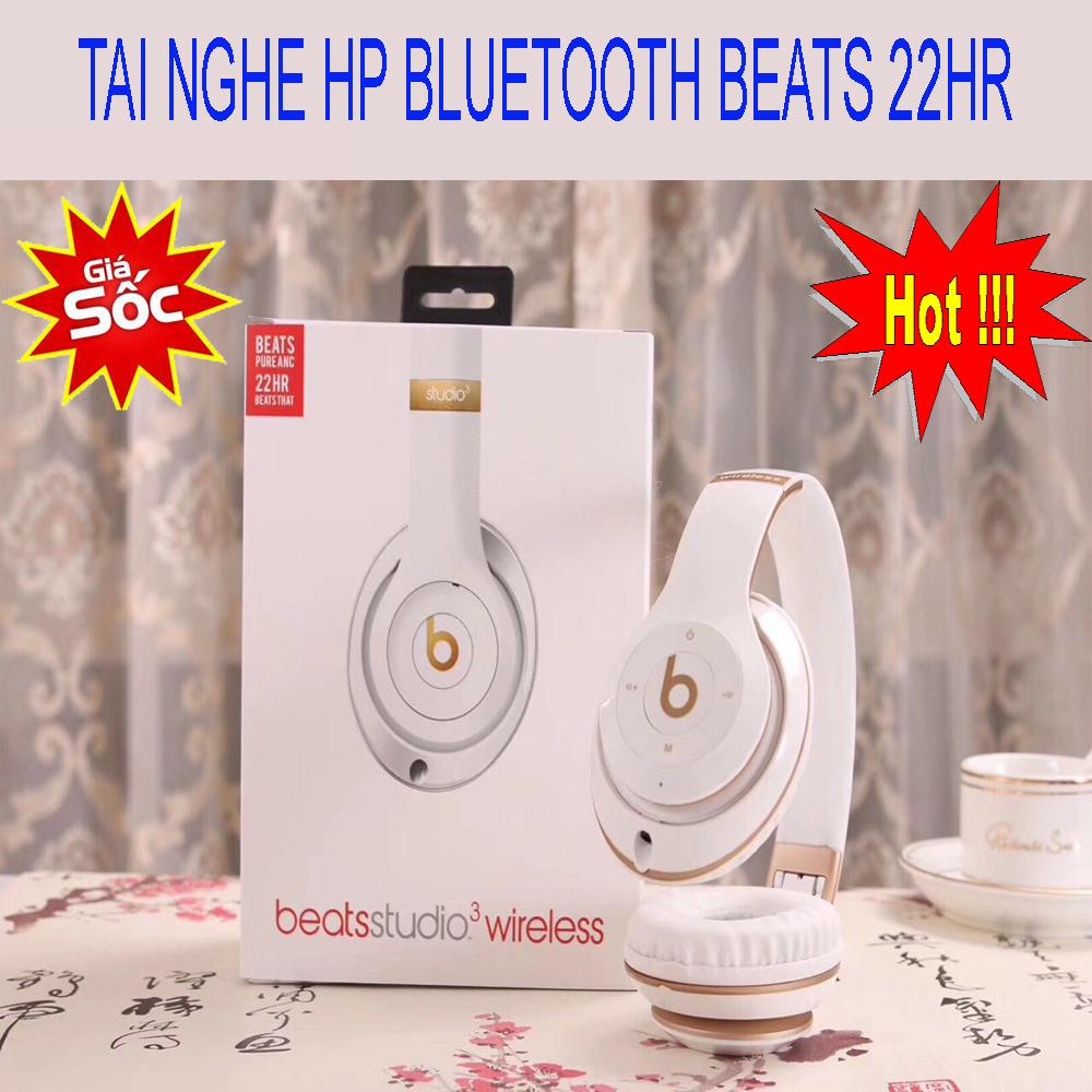 Tai nghe Bluetooth BEATS STUDIO WIRELESS 22HR chống ồn Bass cực mạch,phiên bản công nghệ mới kết nối không dây,thiết kế sang trọng và đẳng cấp, âm thanh siêu trầm,sống động,Năng động đến từng góc,