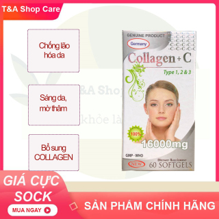 Viên uống đẹp da Collagen + C Beauty Forrmula bổ sung collagen, hạn chế lão hóa da, giúp da căng, sáng mịn, giảm nám da tàn nhang hộp 60 viên HSD 2024 thumbnail