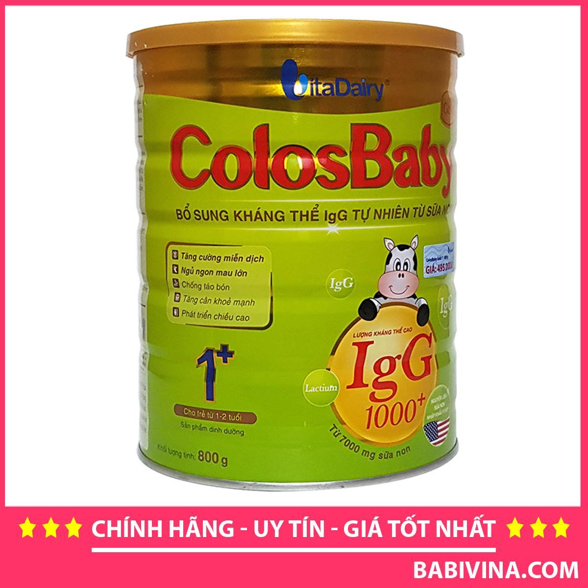 Sữa Non ColosBaby Gold Số 1 800g 1000IgG Cho Trẻ...