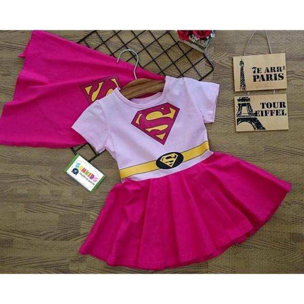 Giá bán Váy đầm Siêu nhân Supergirl _ Samkids
