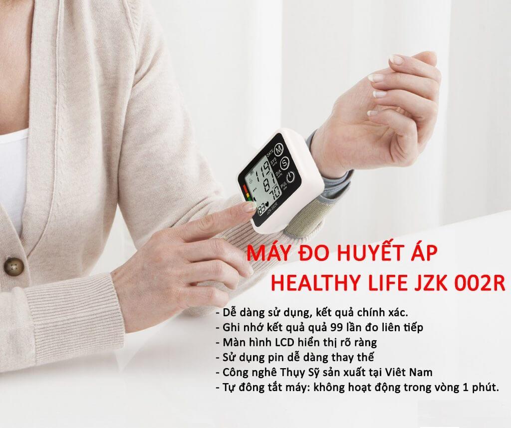 Máy Đo Huyết Áp Cổ Tay Healthy Life JZK-002R Món Quà Tuyệt Vời Cho Người Cao Tuổi Và Cao Huyết Áp, Sản Phẩm Nhỏ Gọn , Tiện Lợi , Dễ Dàng Sử Dụng ...