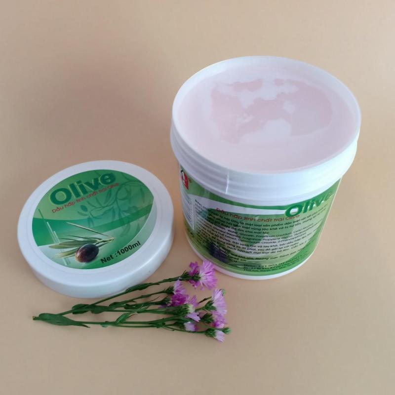 [SALE]Dầu hấp tinh chất trái Olive 1000ml (Xanh - Trắng)