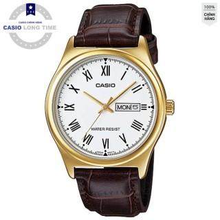 Đồng hồ nam Casio MTP-V006GL-7BUDF Chính hãng - Dây Da - Mặt số La mã - Mạ Vàng thumbnail