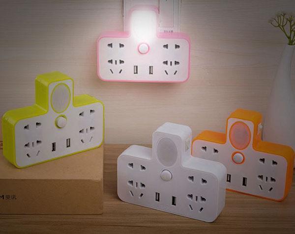 Ổ cắm điện kết hợp đèn ngủ đẹp mắt - ổ cắm điện đa năng - ổ cắm điện thông minh - ổ cắm thông minh