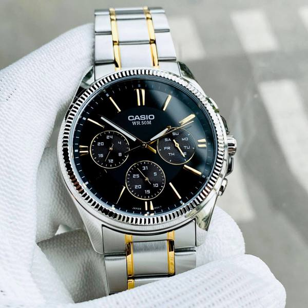 Đồng hồ nam dây demi Casio MTP 1375SG-1AV Bảo hành 1 năm- Pin trọn đời Hyma watch