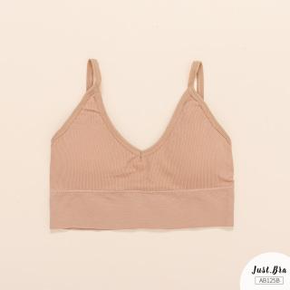Áo bra Just Bra chất liệu thun gân mềm, êm, có sẵn mút, thiết kế khoét lưng cá tính AB125B thumbnail