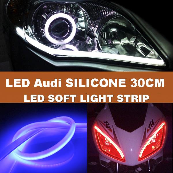 1 Dây Đèn led dây Audi silicon 30cm đủ màu chọn - K30