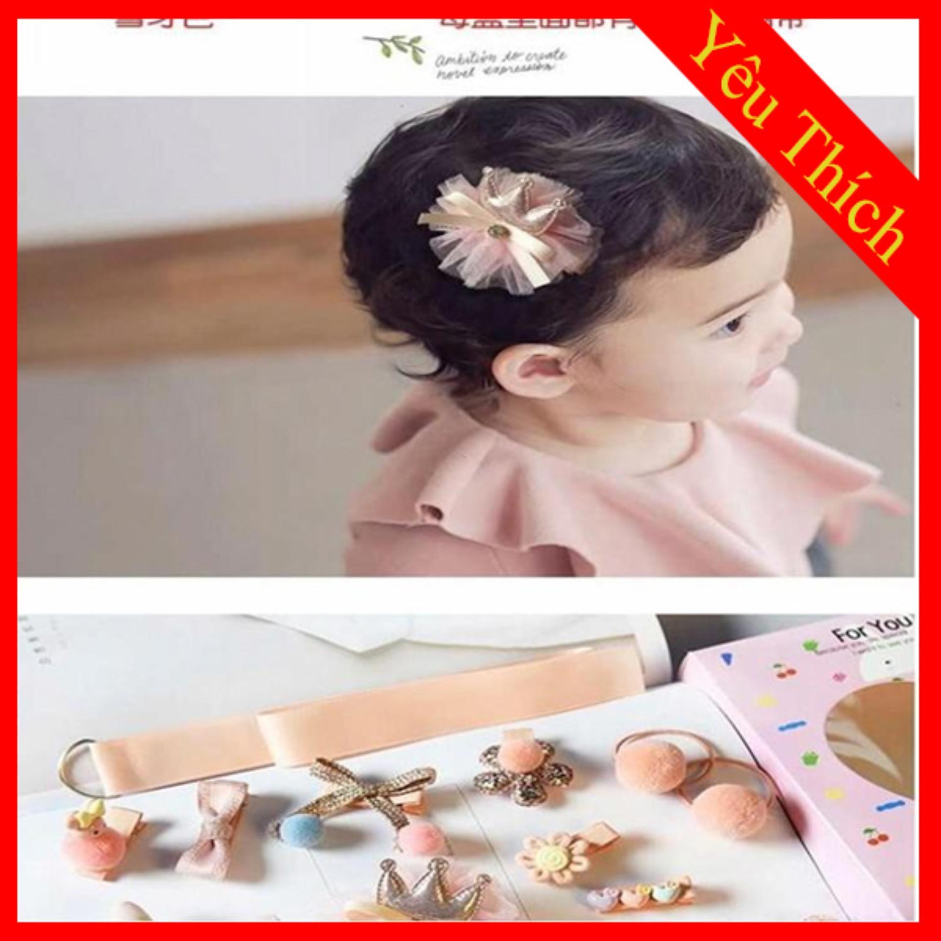 Giá bán Set buộc tóc Hàn Quốc cho bé gái
