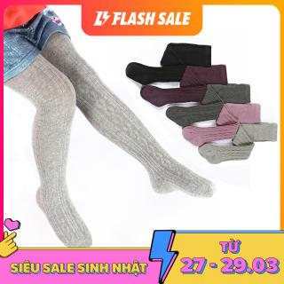 Vớ quần dệt kim nhiều màu không họa tiết phù hợp cho cả bé trai và bé gái, giúp giữ ấm cho bé yêu