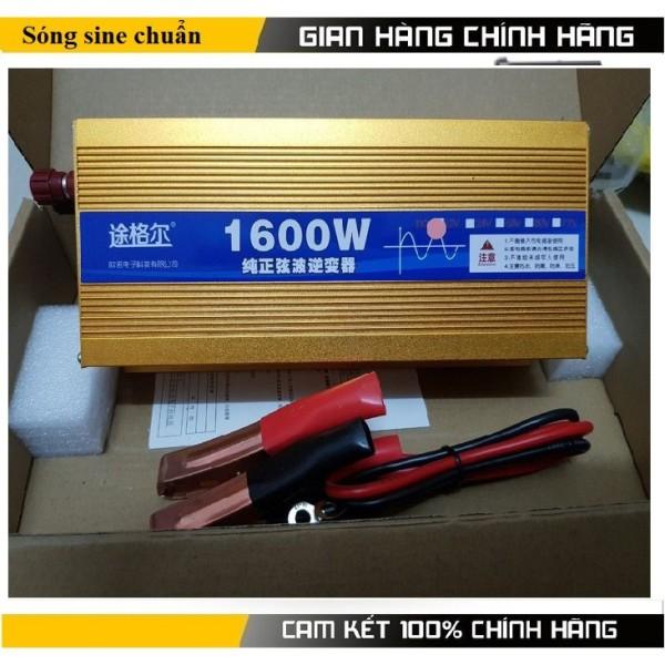 Bộ đồi nguồn 1600w sine chuẩn - Điện áp vào:12v Điện áp ra: AC 220v.Công suất đỉnh:1600w Công suất liên tục:800w
