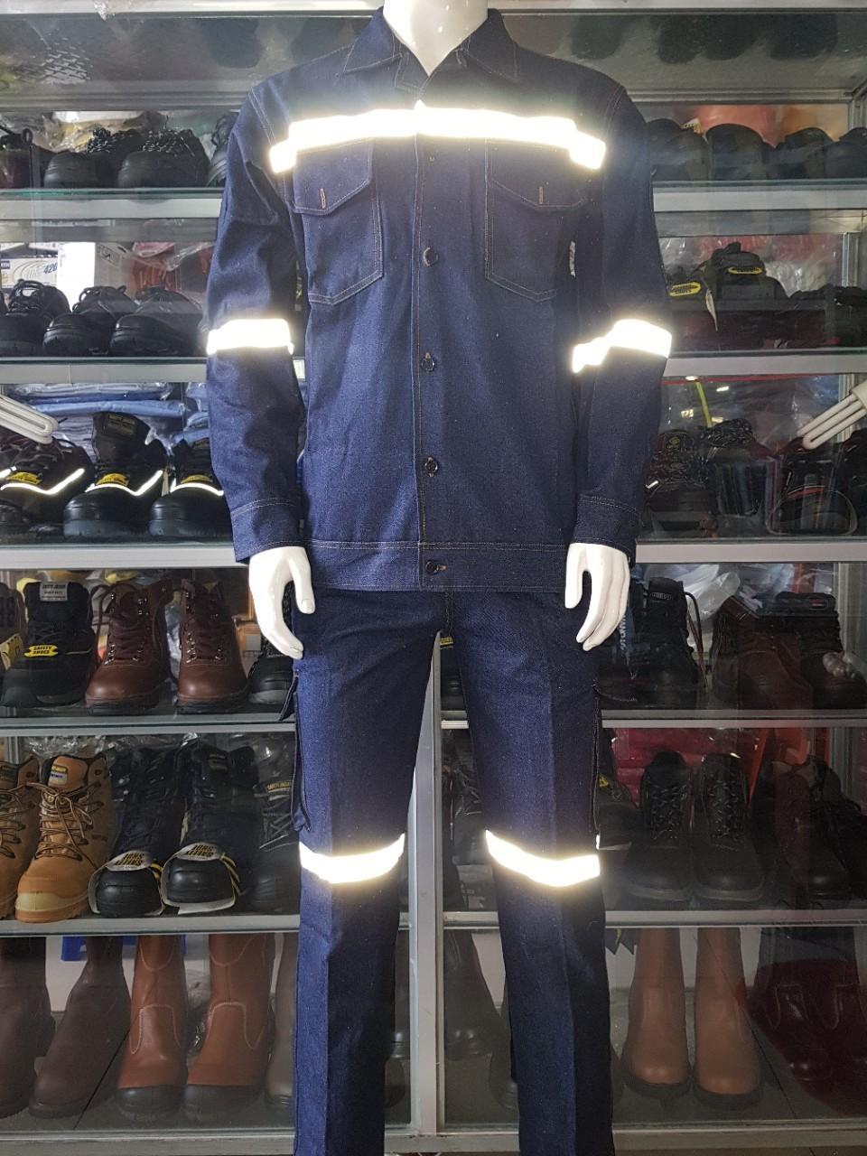 Quần áo Jean cho thợ hàn - Size M