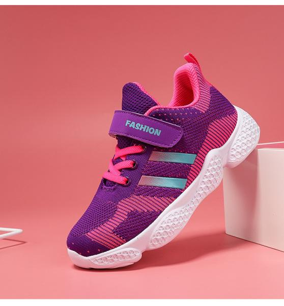 Giá bán Giày thể thao bé gái từ 5 tuổi - 15 tuổi thoáng khí phù hợp đi học đi chơi màu tím và màu hồng