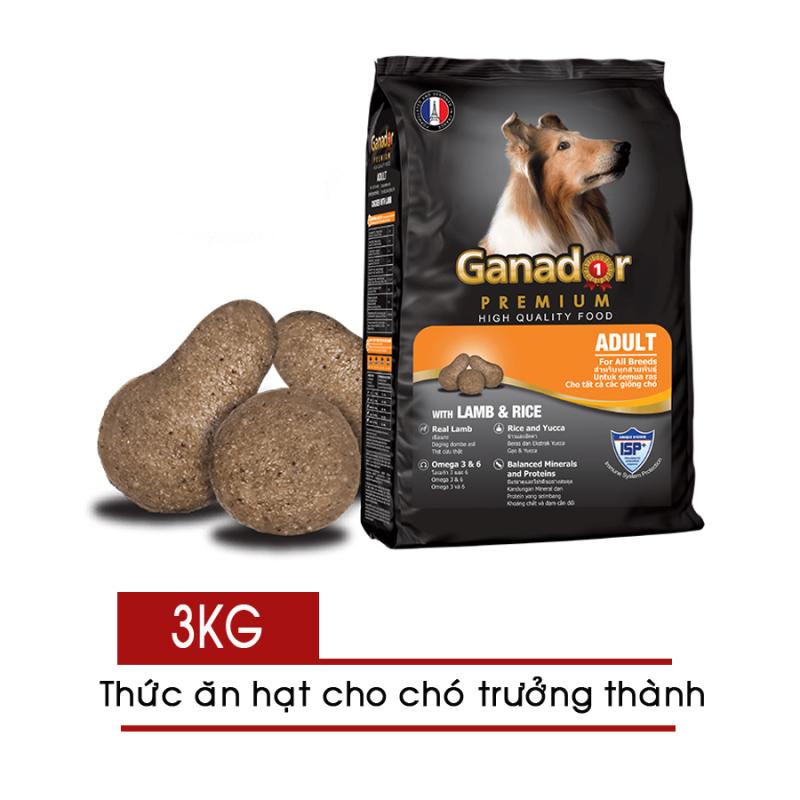 Thức ăn hạt cho Chó Lớn Ganador Adult 3kg - Vị Cừu và Gạo - [Nông Trại Thú Cưng]
