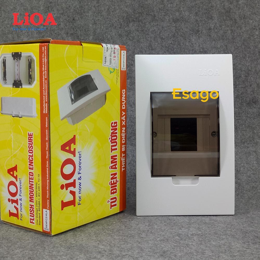 Tủ điện âm tường LiOA chứa 2 cầu dao đôi hoặc 4 cầu dao đơn