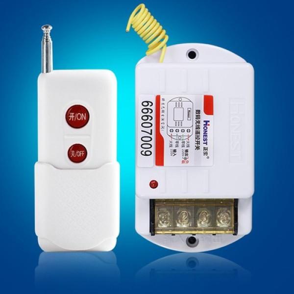 Bộ công tắc điều khiển từ xa 1000M Honest 6220ZR (30A/220V) - Loại tốt nút đỏ - Công tắc điều khiển từ xa chuyên dụng để bật tắt các thiết bị đòi hỏi công suất lớn hoặc cường độ dòng khởi động lớn