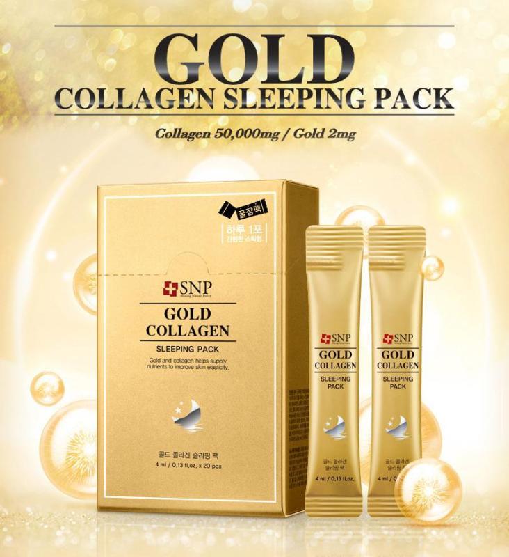 MẶT NẠ NGỦ CHỐNG LÃO HÓA CAO CẤP TINH CHẤT COLLAGEN VÀNG - GOLD COLLAGEN SLEEPING PACK