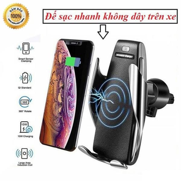 Sạc Không Dây, Sạc Không Dây Cảm Ứng S5 Cao Cấp, Tương Thích Các Các Điện Thoại Samsung, Iphon