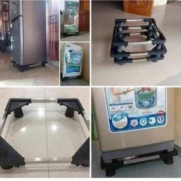 Bảng giá [BẢO HÀNH 2 NĂM] Chân kê máy giặt chân kê tủ lạnh chân kê máy lọc nước đa năng chất liệu inox 304 bền đẹp - tâm đức shop Điện máy Pico