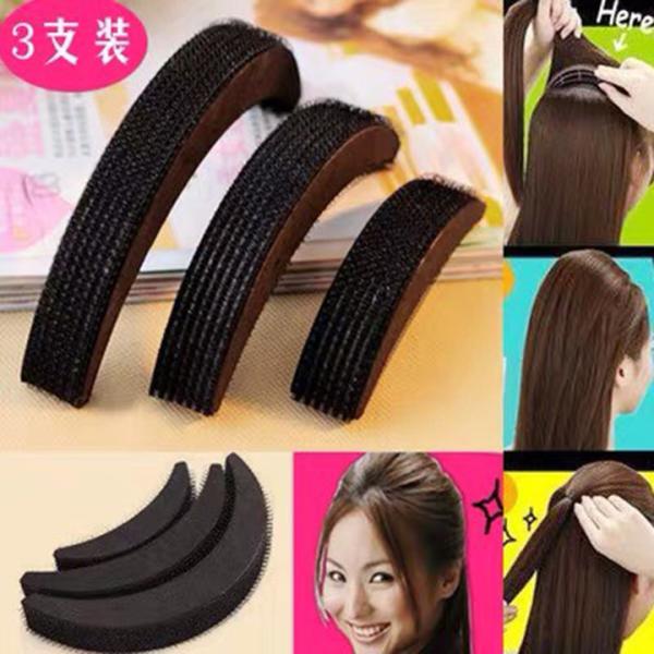 Bộ kẹp mái phồng 3 kích cỡ chất liệu xốp tạo cho các nàng các kiểu tóc xinh xắn nhập khẩu