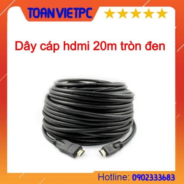 Bảng giá Cáp tín hiệu hdmi tròn, đen, dài 20m Phong Vũ