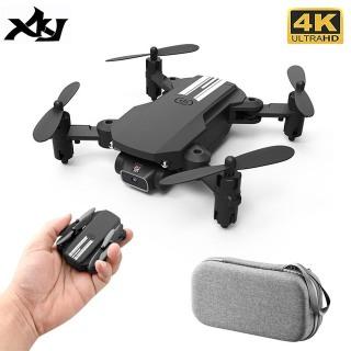 NEW 2021 - Máy bay điều khiển từ xa, Flycam mini Drone 4K Camera HD WiFi Fpv Áp Suất Không Khí Giữ Cao Độ Màu Đen Và Xám có Thể Gập Lại ảnh truyền về điện thoại thumbnail