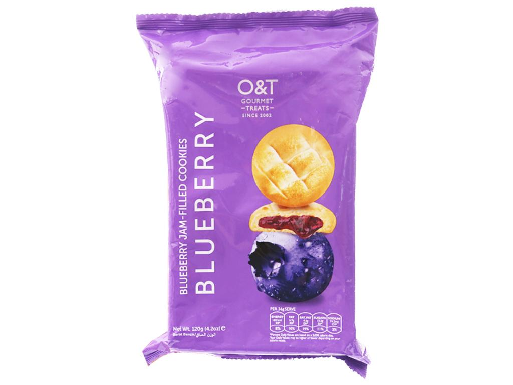 Bánh quy nhân việt quất O&T nhập khẩu Malaysia 120g 10 bánh- ăn vặt